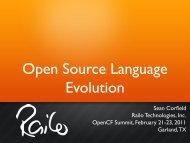 Open Source Language Evolution
