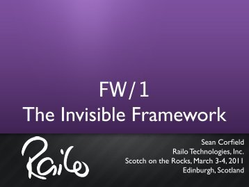 FW/1 The Invisible Framework