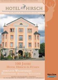 Herzliche Glückwünsche zum Jubiläum! - Hotel Hirsch