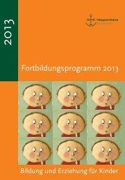 Fortbildungsprogramm 2013 - Elisabethenstift