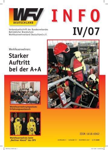 Starker Auftritt bei der A+A - Werkfeuerwehrverband Deutschland eV