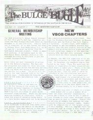 general membership meeting new vbob chapters - Veterans of the ...
