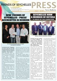 PRESS Newsletter - Issue 4 PG1 - Seychelles Tourism Board