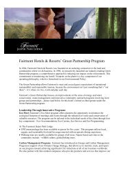 Fairmont Hotels & Resorts' Green Partnership ... - Meeting Planners