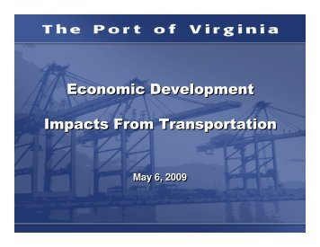 Economic Development Impacts From Transportation