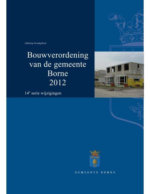 Bouwverordening van de gemeente Borne 2012