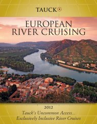 EUROPEAN RIVER CRUISING - Tauck