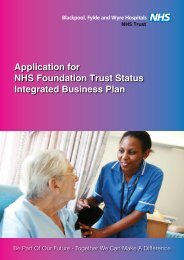 Integrated Business Plan (PDF 4MB) - Blackpool, Fylde and Wyre ...
