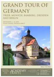 Grand tour of Germany - Academy Travel