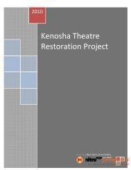 2010 market study - Kenosha Theatre Restoration Project