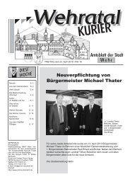 Neuverpflichtung von Bürgermeister Michael Thater