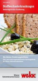 Stoffwechselerkrankungen - Wiener Gebietskrankenkasse