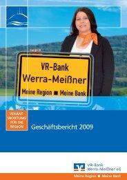 Geschäftsbericht WM09 - VR-Bank Werra-Meißner eG