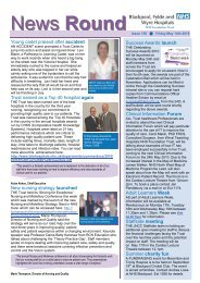 News Round - Blackpool, Fylde and Wyre Hospitals NHS ...