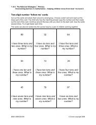 Two-digit number 'follow me' cards 89 I have three tens and two ...