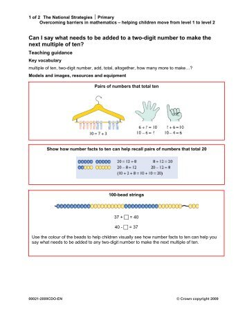 Can I say what needs to be added to a two-digit number to make the ...