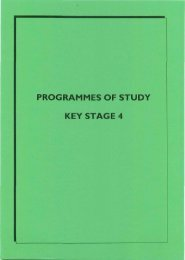 PROGRAMMES OF STUDY KEY STAGE 4