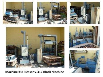 Machine #1 Besser v-312 Block Machine
