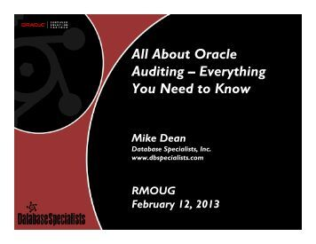 All About Oracle Auditing – Everything You Need to Know