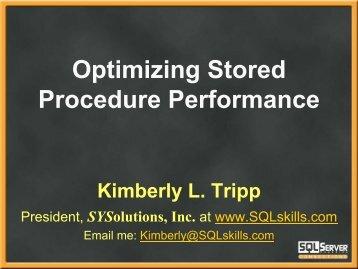 Speaker – Kimberly L Tripp