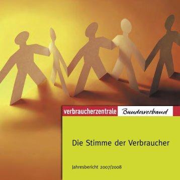 Jahresbericht 2007/2008 - vzbv