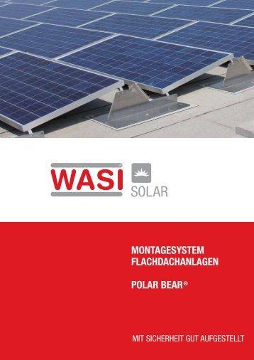 MONTAGESYSTEM FLACHDACHANLAGEN POLAR BEAR® - Wasi