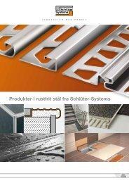 Produkter i rustfrit stål fra Schlüter-Systems