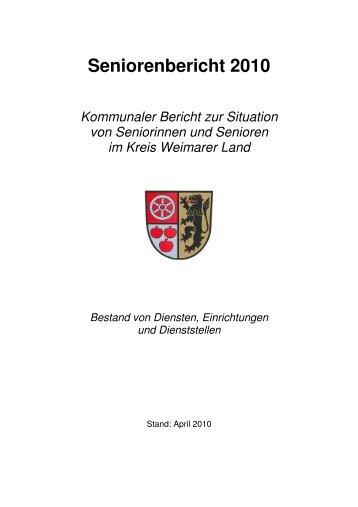 Seniorenbericht 2010 - im Kreis Weimarer Land