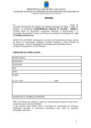Baixar - Portal de Compras - Prefeitura Municipal de Natal