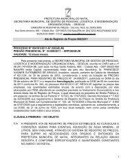Ata 008/2011 - Portal de Compras - Prefeitura Municipal de Natal