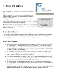 Sample pages from the CHP Open churches Education ...