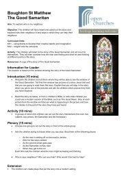 Boughton St Matthew The Good Samaritan