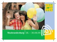 Sa. 29.08. - Veranstaltungszentrum Neubrandenburg GmbH