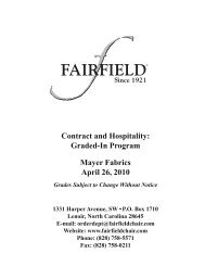 Contract and Hospitality Graded-In Program Mayer Fabrics April 26 2010