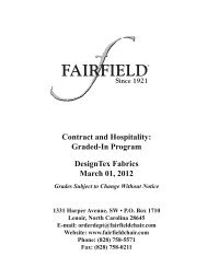 Contract and Hospitality Graded-In Program DesignTex Fabrics March 01 2012