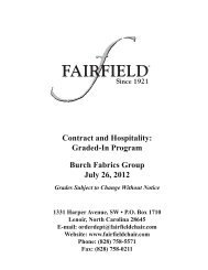 Contract and Hospitality Graded-In Program Burch Fabrics Group July 26 2012