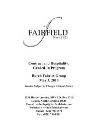 Contract and Hospitality Graded-In Program Burch Fabrics Group May 3 2010