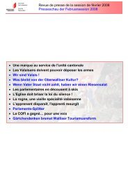 Revue de presse de la session de février 2008 ... - Etat du Valais