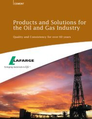 CEMENT Value-Added Benefits From Lafarge Product Support Testing