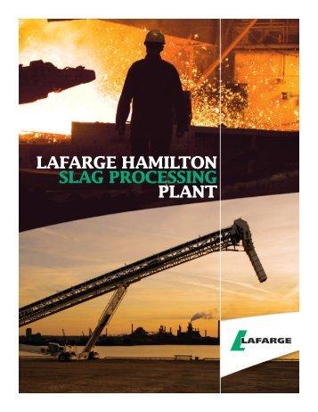 LAFARGE HAMILTON SLAG PROCESSING PLANT