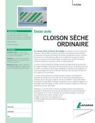 CLOISON SÈCHE ORDINAIRE
