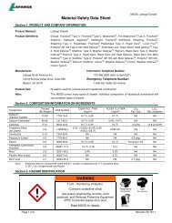 Drywall - MSDS English - Lafarge