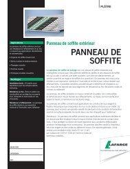 PANNEAU DE SOFFITE