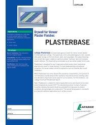 Plasterbase - Submittal English - Lafarge