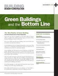 Green Buildings Bottom Line