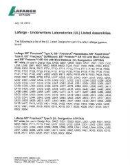 Lafarge Gypsum UL Listed Designs