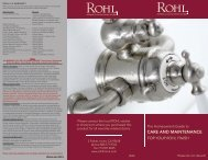 Care and Maintenance - Rohl
