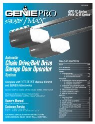Chain Drive/Belt Drive Garage Door Operator