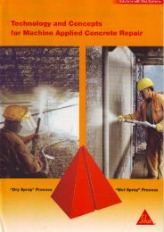 Technology and Goncepts for Machine Applied Concrete Repair