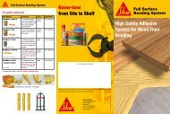 Know-how from Site to Shelf High Safety Adhesive System for Wood Floor Bonding